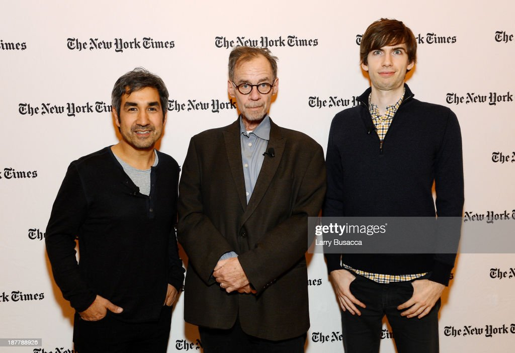 General Partner at Spark Capital Bijan Sabet, journalist <a gi-track='captionPersonalityLinkClicked' href=/galleries/search?phrase=David+Carr+-+Journalist&family=editorial&specificpeople=13928645 ng-click='$event.stopPropagation()'>David Carr</a>, and Tumblr founder <a gi-track='captionPersonalityLinkClicked' href=/galleries/search?phrase=David+Karp&family=editorial&specificpeople=6603515 ng-click='$event.stopPropagation()'>David Karp</a> attend the New York Times 2013 DealBook Conference in New York at the New York Times Building on November 12, 2013 in New York City.