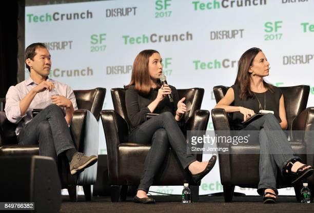 NEA General Partner Jon Sakoda Google Cloud Head of Startup Programs Sam O'Keefe and Capital Partner Jenny Lefcourt judge the Startup Battlefield...
