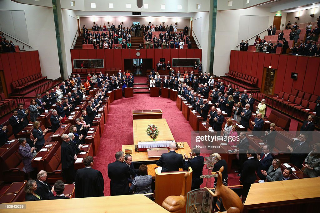 General Peter Cosgrove is sworn in as Australia's GovernorGeneral at Parliament House on March 28 2014 in Canberra Australia The former Defence Force...