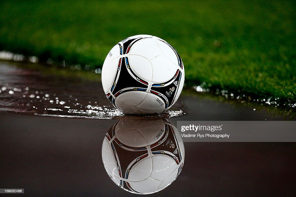 General picture of a football is seen during the Superleague match between Panathinaikos FC and Olympiacos Piraeus at OAKA Stadium on December 9, 2012 in Athens, Greece.