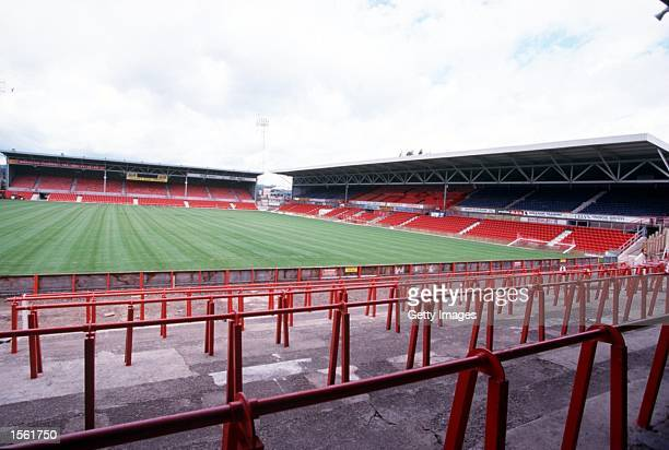 A general picture of Wrexham's ground The Racecourse Ground Mandatory Credit Allsport/ALLSPORT