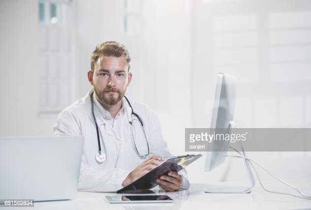 General Practitioner in His Office, Portrait