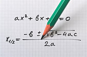 General quadratic equation and the formula that gives the solution