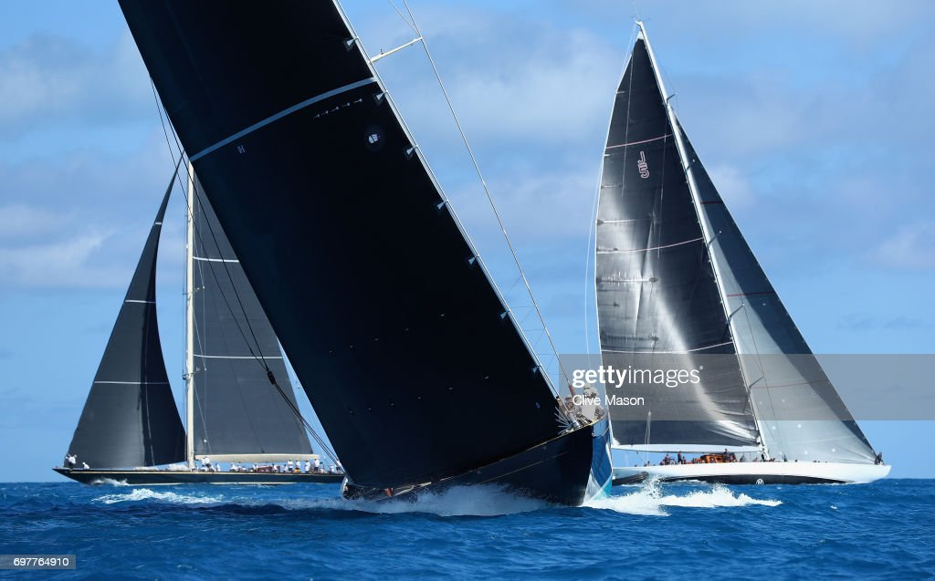 General race action during the America's Cup J Class Regatta, day 2 on June 19, 2017 in Hamilton, Bermuda.