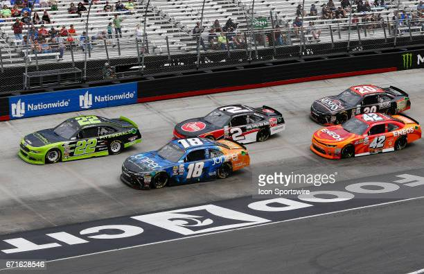 General race action during the Fitzgerald Glider Kits 300 NASCAR Xfinity Series race on April 22 2017 at Bristol Motor Speedway in Bristol TN