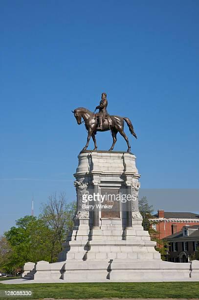 General Robert E. Lee equestrian sculpture, Monument Avenue, Downtown Richmond, Virginia, USA