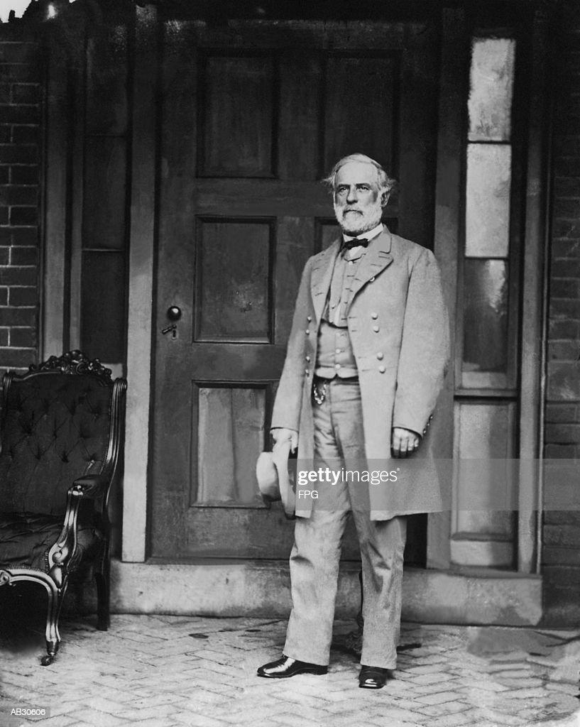 General Robert E. Lee, portrait (B&W) : Stock Photo