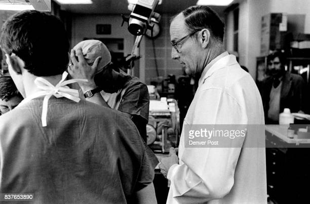 General Russell observes doctors attending a newborn infant in the Neo Natal Intensive Care Unit at Fitzsimons Hospital Credit The Denver Post