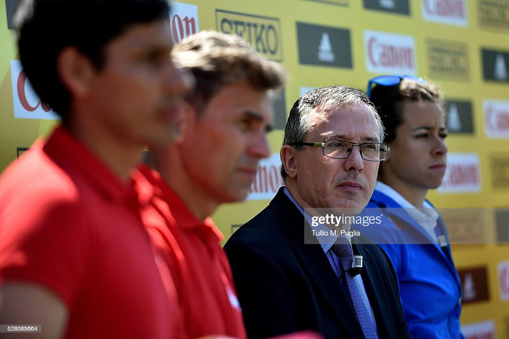 General Secretary Jean Gracia attends the IAAF - Roma 2016 press conference at Sheraton Parco dei Principi hotel on May 6, 2016 in Rome, Italy.