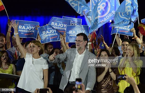 General Secretary of Partido Popular Maria Dolores de Cospedal Leader of the Popular Party and Spain's caretaker Prime Minister and party candidate...