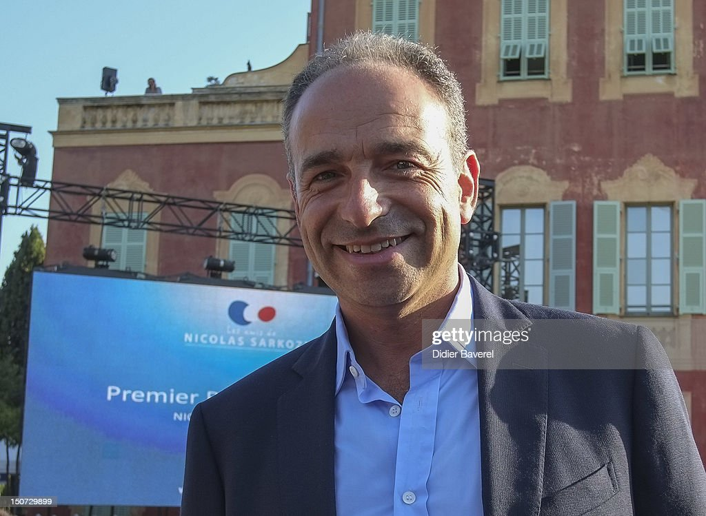 General secretary of UMP party, Jean Francois Cope attends the first Rally of the association The friends of Nicolas Sarkozy on August 24, 2012 in Nice, France.