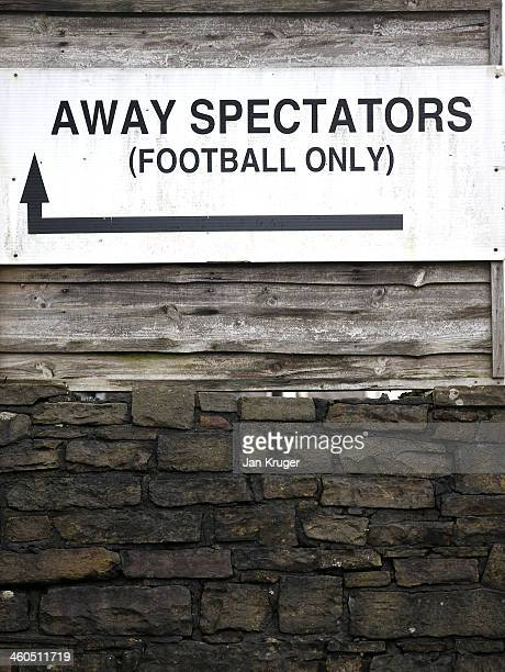A general sign ahead of the Budweiser FA Cup third round match between Rochdale and Leeds United at Spotland Stadium on January 4 2014 in Rochdale...