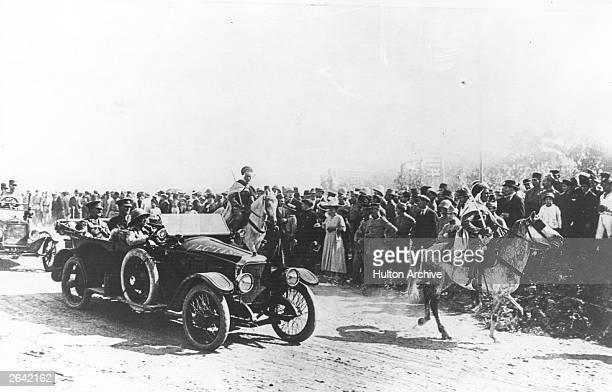 General Sir Edmund Allenby enters Jerusalem in a Vauxhall staff car