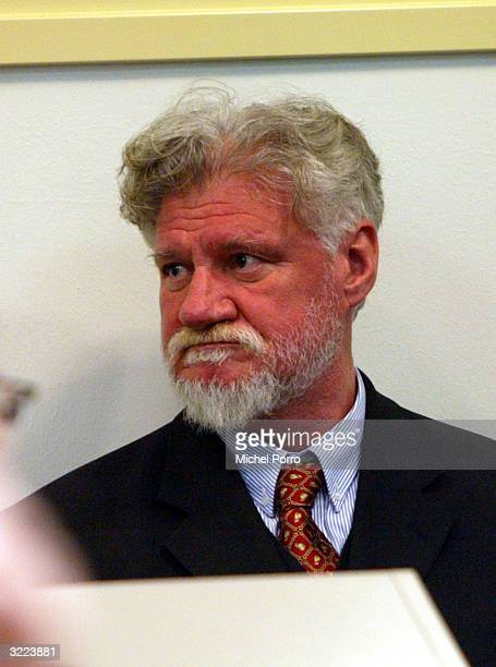 General Slobodan Praljak makes his initial appearance April 6 2004 at the War Crimes Tribunal in The Hague Netherlands Praljak part of the group of...