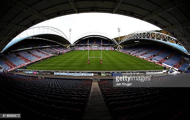 General stadium view ahead of the Four Nations match between England and New Zealand Kiwis at John Smith's Stadium on October 29 2016 in Huddersfield...