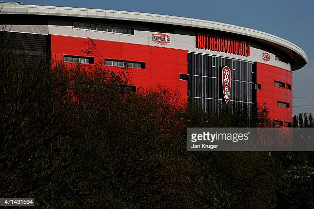 General stadium view ahead of the Sky Bet Championship match between Rotherham United and Reading at The New York Stadium on April 28 2015 in...