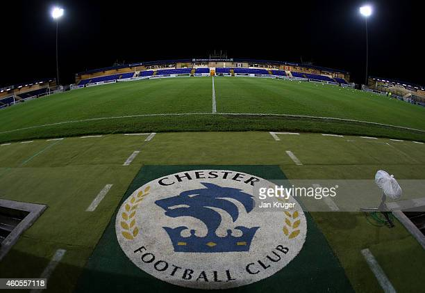 General stadium view ahead ofthe FA Cup Second Round Replay match between Chester City and Barnsley at Deva Stadium on December 16 2014 in Chester...