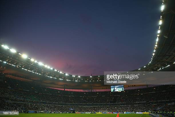 General stadium view during the French Cup Final match between Evian Thonon Gaillard and FC Girondins de Bordeaux at the Stade de France on May 31...