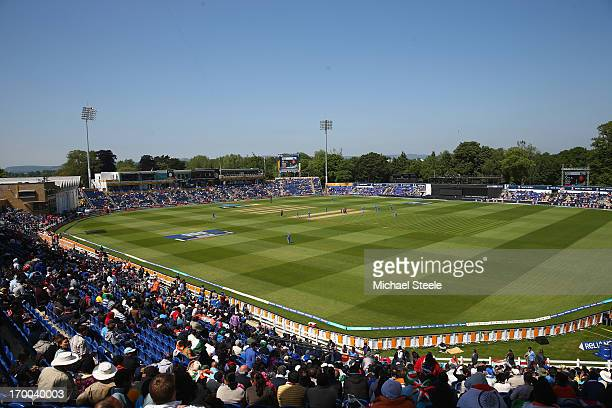 General stadium view during the Group B ICC Champions Trophy match between India and South Africa at the SWALEC Stadium on June 6 2013 in Cardiff...