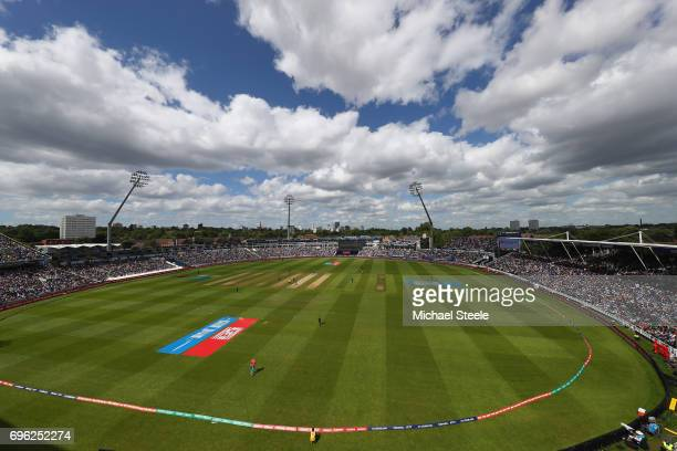 General stadium view during the ICC Champions Trophy SemiFinal match between Bangladesh and India at Edgbaston on June 15 2017 in Birmingham England