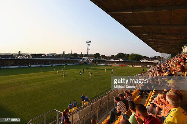 General stadium view during the Pre Season Friendly match between Torquay United and Yeovil Town at Plainmoor Ground on July 16 2013 in Torquay...