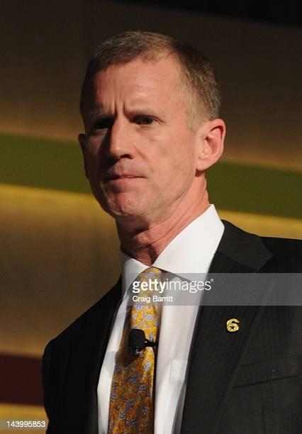 General Stanley McChrystal speaks at the Robin Hood Veterans Summit at Intrepid SeaAirSpace Museum on May 7 2012 in New York City