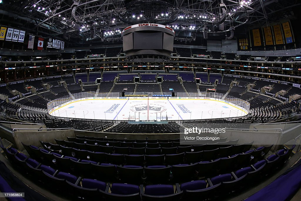 A general vie of Staples Center on May 28, 2013 in Los Angeles, California. The Kings defeated Sharks 2-1 to advance to the Western Conference Finals.