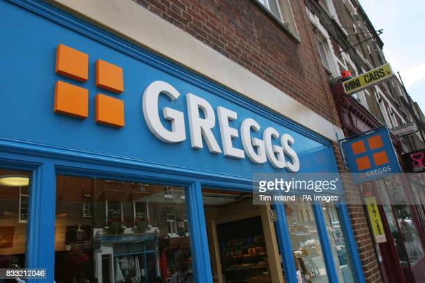 General view a Greggs bakery shop in central London