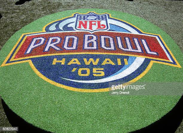 General view a platform with the 2005 NFL Pro Bowl Logo prior to the NFL Pro Bowl on February 13 2005 at Aloha Stadium in Honolulu Hawaii The AFC...