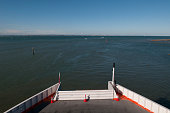 A general view across the Solent from the Wightlink ferry as it leaves fishbourne traveling towards Portsmouth on July 23 2016 in Isle of Wight...