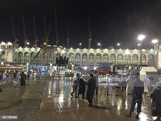 General view after a construction crane collapsed over the Muslim pilgrims around the Muslims' holy place Kaaba in Mecca Saudi Arabia on September 11...