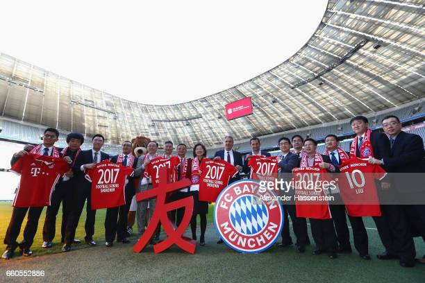 General view after a press conference at Allianz Arena on March 30 2017 in Munich Germany