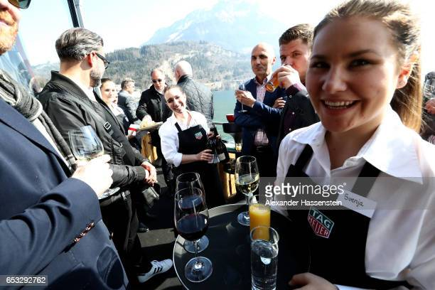 A general view after a press conference at the international launch of the TAG Heuer Connected Modular 45 Swiss Made on March 14 2017 in Brunnen...