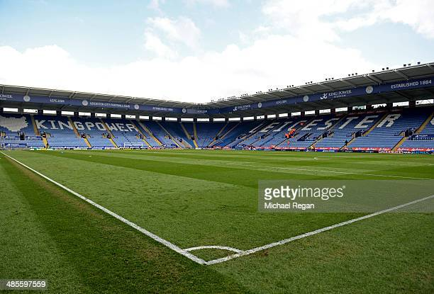 A general view after the Sky Bet Championship match between Leicester City and Queens Park Rangers at The King Power Stadium on April 19 2014 in...