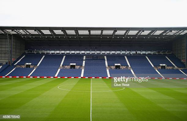 A general view ahead ahead of the Barclays Premier League match between West Bromwich Albion and Sunderland at The Hawthorns on August 16 2014 in...