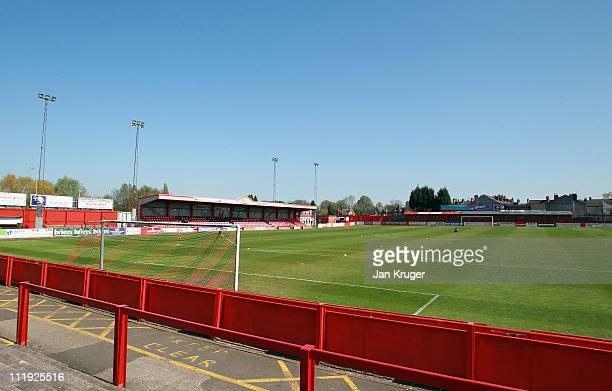 General view ahead of kick off during the Blue Square Bet Premier League match between Tamworth and Crawley Town at The Lamb Ground on April 9 2011...