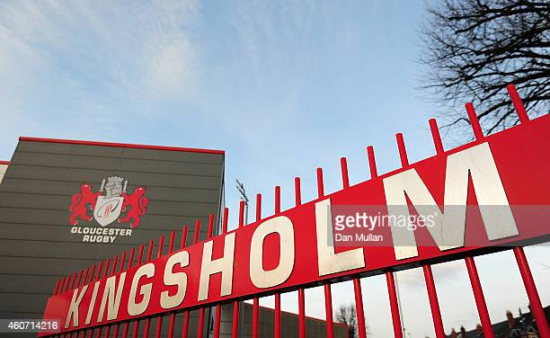 A general view ahead of the Aviva Premiership match between Gloucester Rugby and Bath Rugby at Kingsholm Stadium on December 20 2014 in Gloucester...