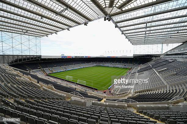 A general view ahead of the Barclays Premier League match between Newcastle United and Crystal Palace at St James' Park on August 30 2014 in...