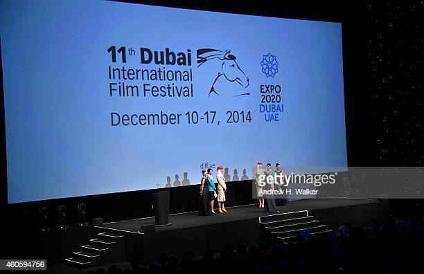 A general view ahead of the Closing Night premiere 'Into The Woods' during day eight of the 11th Annual Dubai International Film Festival held at the...