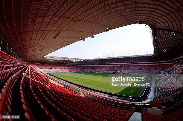 A general view ahead of the Premier League match between Sunderland and Everton at the Stadium of Light on May 11 2016 in Sunderland England