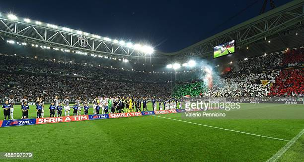 A general view ahead of the Serie A match between Juventus and Atalanta BC at Juventus Arena on May 5 2014 in Turin Italy