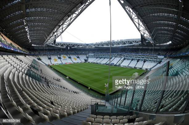 A general view ahead of the UEFA Champions League group D match between Juventus and Sporting CP at Juventus Stadium on October 18 2017 in Turin Italy