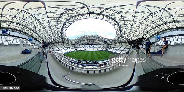 A general view ahead of the UEFA Euro 2016 at Stade Velodrome on June 10 2016 in Marseille France