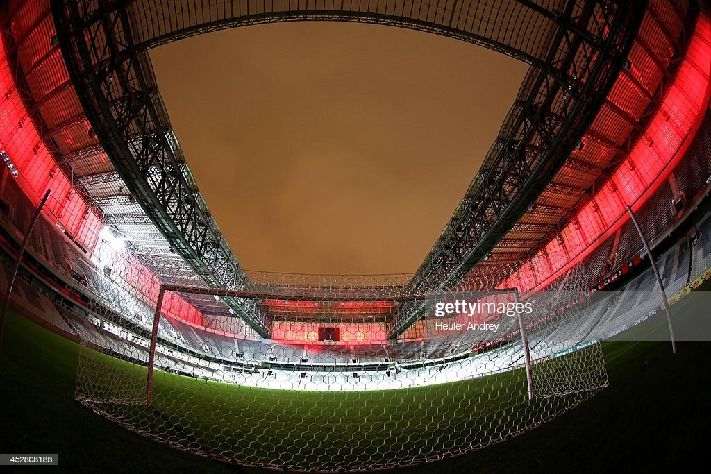 General view Arena da Baixada after the match between Atletico-PR and Fluminense for the Brazilian Series A 2014 at Arena da Baixada on July 27, 2014 in Curitiba, Brazil.