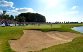General view around the 18th green during the Nordea Masters at the PGA Sweden National on May 31 2014 in Malmo Sweden