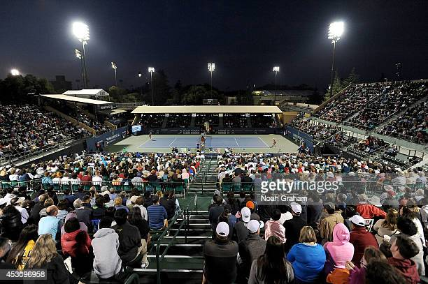 A general view as Angelique Kerber of Germany plays against Varvara Lepchenko of the United States of America during Day 6 of the Bank of the West...