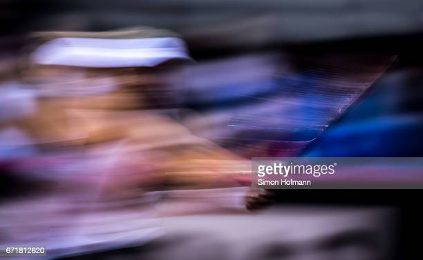 A general view as Angelique Kerber of Germany returns the ball during the FedCup World Group PlayOff match between Germany and Ukraine at Porsche...