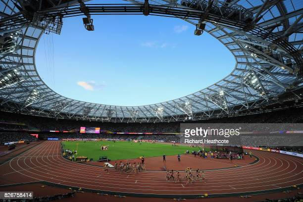 A general view as athletes compete in the Women's 10000 metres during day two of the 16th IAAF World Athletics Championships London 2017 at The...