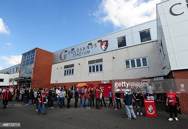 A general view as Bournemouth fans queue outside the ground prior to the Sky Bet Championship match between AFC Bournemouth and Birmingham City at...