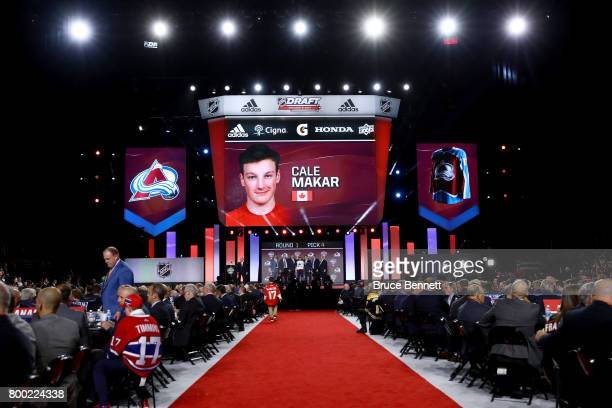 A general view as Cale Makar is selected fourth overall by the Colorado Avalanche during the 2017 NHL Draft at the United Center on June 23 2017 in...